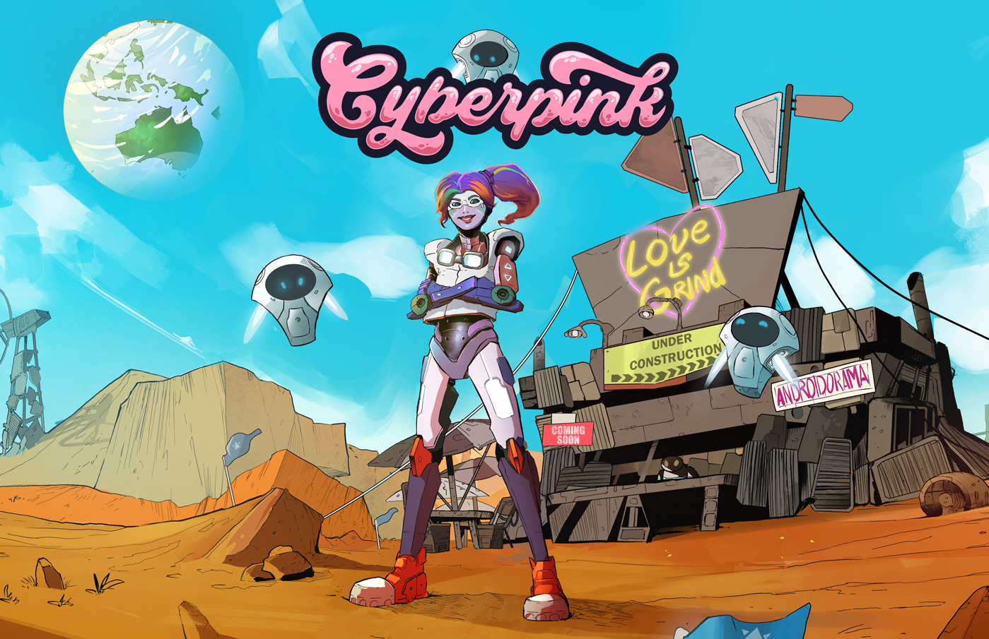 Marky, robot girl from Cyberpink